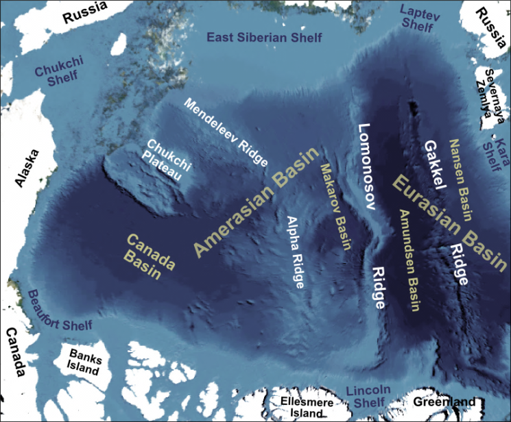 Figure 1-2. Basins and ridges of the Arctic Basin (Mike Norton)