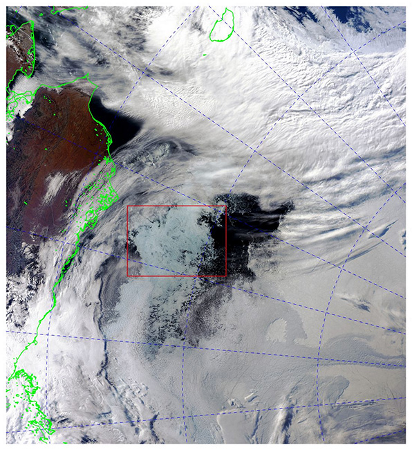 Photo 1-1. Polynya (MODIS)