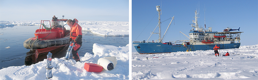 Photo 3-2. Oil-in-Ice JIP field investigation (SINTEF, Liv-Guri Faksness)